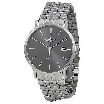 Longines Elegance Automatic Grey Dial Men's Watch L48104726