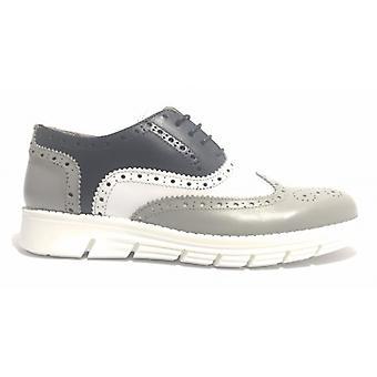 Мужская обувь Tony Wild Francesina Brogue Кожа Белый Серый И Синий Us17tw14