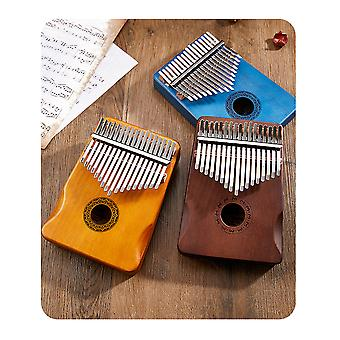 Kalimba 17 Keys Thumb Piano Portable Wood Finger Piano, Gift For Kids Adult Beginners Professional