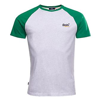 Superdry Organic Cotton Baseball T-Shirt - Optic