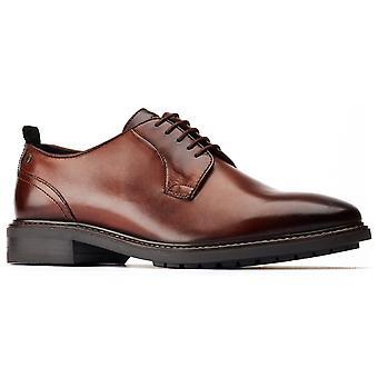 Base london homme boston plain orteil derby chaussure brune 31209