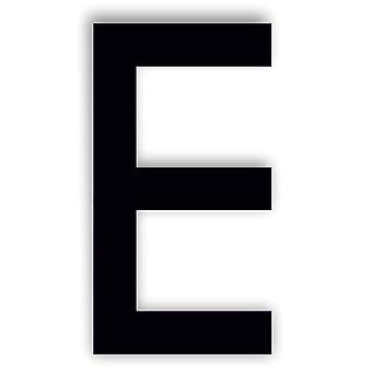 Буква алфавита Икра Шрифт Акриловое зеркало или Черный акриловый дверной знак - E