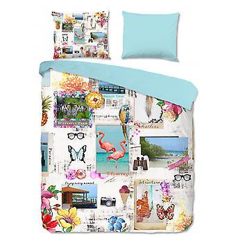 bed linen Semra 240 x 220 cm microfiber multi-coloured