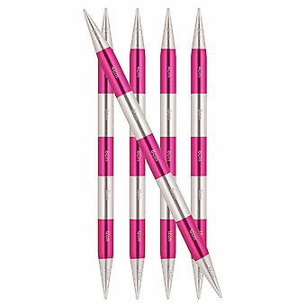 KnitPro Smart Stix: Knitting Pins: Double-Ended: Pink: Set of 5: 14cm x 3.25mm
