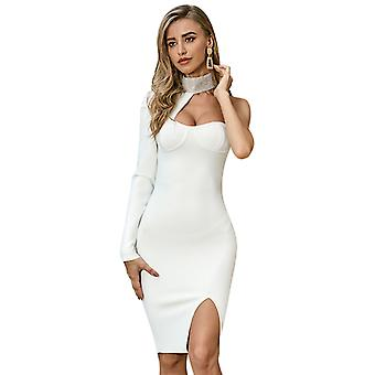 Summer Sexy Strap Single Long Sleeve Evening Dresses For Women Party 2022 Urbano Vintage Dress