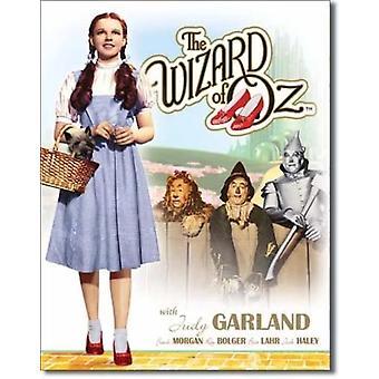 Wizard of oz - dorothy & toto retro-tin-merkki