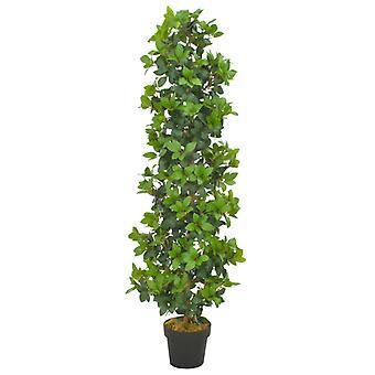 vidaXL Keinotekoinen kasvi laakeripuu ruukku vihreä 150 cm