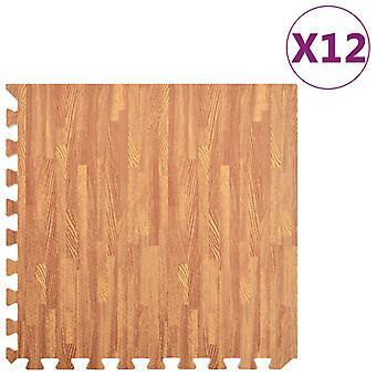 vidaXL floor mats 12 pcs. wood optic4.32 m2 EVA foam