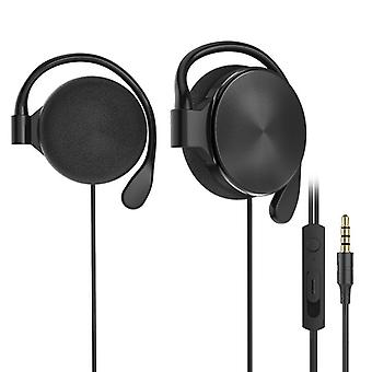 E01 bedrade bediening hangende sport oortelefoon HiFi-hoofdtelefoon met microfoon