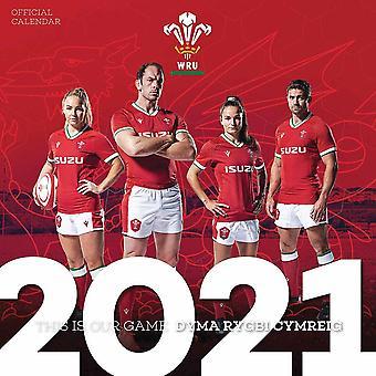 Wales RU 2021 A3 Calendar