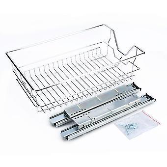 Kitchen Sliding Cabinet Organizer,pull Out Chrome Wire Storage Basket Drawer