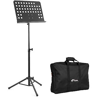 DZK MUS7 Orchestral Sheet Music Stand Bag Pack – Heavy Duty All Metal Construction Ideal for