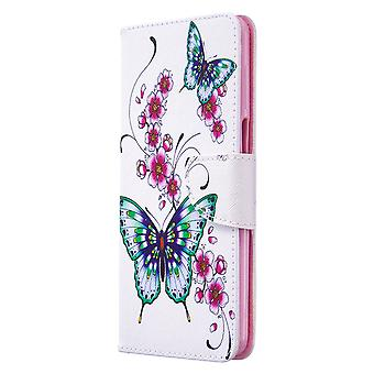 Xiaomi Redmi Note 9s / note 9 Pro Max Case Mönster Fjäril Blommig