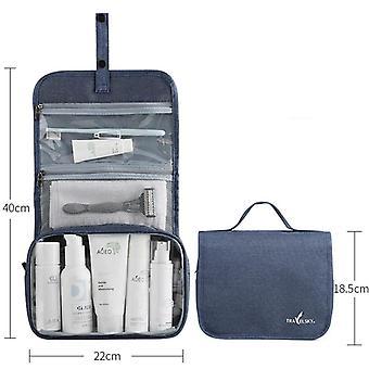 Fold Up Travel Cosmetic Bag Kvinnor Makeup Väskor Toalettartiklar Arrangör Vattentät Hängande Toalettväska