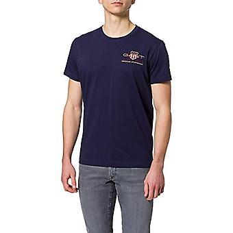 GANT D1. Archive Shield EMB SS T-Shirt, Blu-Evening Blue, 5X-Large Men's