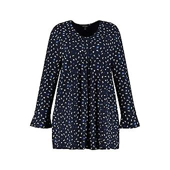 ULLA POPKEN Faltchenshirt mit Minimalprint Hund T-Shirt, Sky, Large Sizes Woman(1)