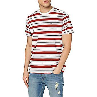 Lee Stripe Tee T-Shirt, Röd Ockra, S Man