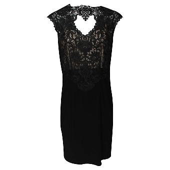 Frank Lyman Sleeveless Black Lace Cocktail Dress