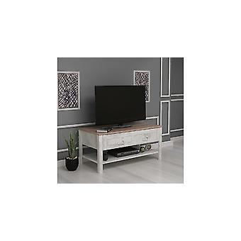 Porta de TV móvel Sento Colore Legno, Bianco, em Truciolare Melaminico L90xP42xA45 cm