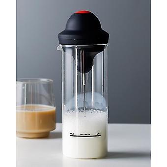 Handheld Electric Milk Frother Jug Cup, Stainless Steel Foamer, Mixer, Bubbler