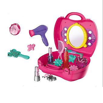 19Pcsの子供の女の子のサロンのおもちゃは、メイクアップセットロールプレイキッズギフトをふりをします