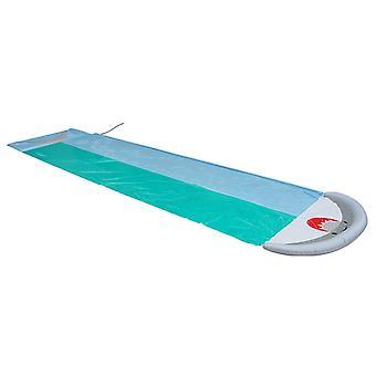 鲸鱼形状的水滑动水玩具水喷射水滑动双草坪垫玩具