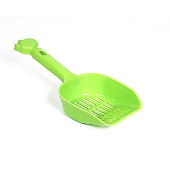 2Pcs verde de gran tamaño pala de arena para gatos, pala de heces de mascotas de plástico az4633