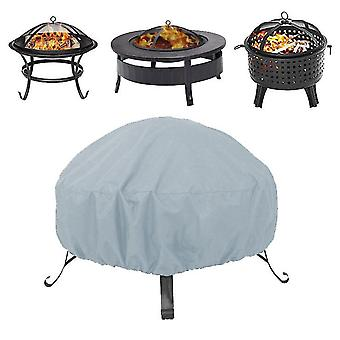 85*40Cm grey round fire pit stove dust cover 210d oxford cloth outdoor dustproof and waterproof cover x5784