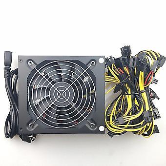 Madencilik için 1600w Güç Kaynağı GPU 1600w Atx Madencilik Güç Kaynağı
