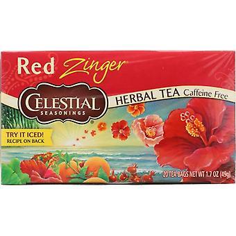 Celestial Seasonings Tea Herb Red Zinger, Case of 6 X 20 Bags