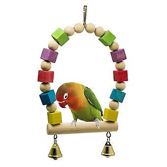 Parrot Bird Toys houten blokken staande bars swing staat bars ladder