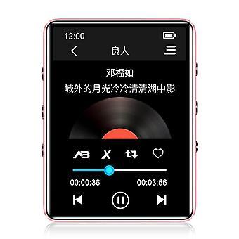 Bluetooth Mp3 Music Player, Kosketusnäyttö, Sisäänrakennettu kaiutin, Hifi, Kannettava