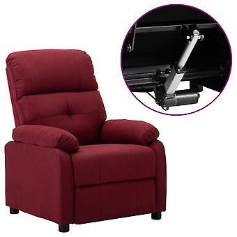 vidaXL Elektrischer Sessel Verstellbar Weinrot Stoff