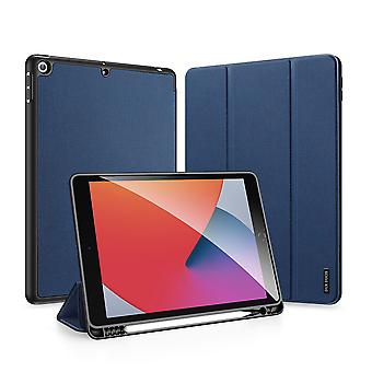 """Case For Ipad 5 2017 9.7"""" Ultra Thin Smart Leather Cover Case With Pencil Holder & Auto Wake Up/sleep - Blue"""
