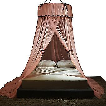 Punch-free Mosquito Net Princess Bowknot Floor Mosquito Net (Roze)