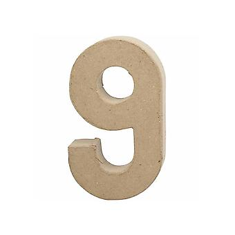 20,5 cm groot papier mache nummer 9 | Mache-vormen van papier | Papier Mache