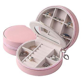Mini Schmuck Box Aufbewahrung Box Ohrringe Ohrstecker Box Show Case Organizer Rosa