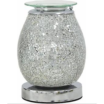 Deseo Aroma Lámpara Mosaico de Plata