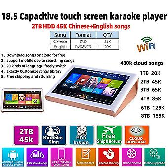 18.5 Capacitive Home - Screen System 2tb Hdd 45k Chinese-english-songs