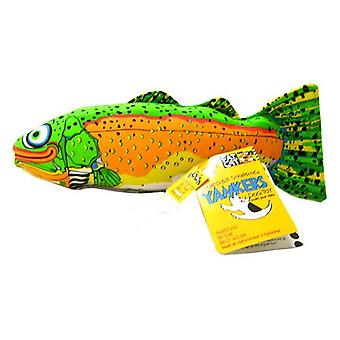 """Fat Cat Classic Yankers Dog Toy - Assorted - Trout (14""""L x 5""""W x 3""""H)"""