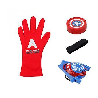1pcs New Anime Figure Pvc Super Heroes Cosplay Spider Gloves Laucher Wrist Launchers Kids Toys For Children Boys Blue