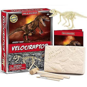 Lapset 6+ koulutuksellinen diy dinosaurus fossiilinen arkeologinen kaivaus lelut(D7141)
