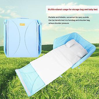 bærbar baby seng vanntett stor kapasitet bomull + nylon mor veske