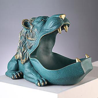 Hippopotamus Skulptur Figurine Nøkkel/godteri Container Dekorasjon Hjem