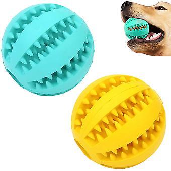 2 Pcs Dog Toy Ball Nontoxic Bite Resistant Teething Toys Ball Exercise Game