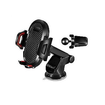 Faucet Kitchen Accessories Carbon Fiber Car Phone Holder Telescopic Suction Cup Holder Air Outlet Cell Phone Holder Lazy Bracket