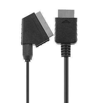 1pcs Rgb Scart Wire Cable 1.8m / 6ft Tv Av pour Sony Playstation Ps2 Ps3 Slim Line Consoles de jeu pour Ps2 Jeux Câble