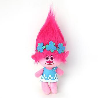 Trolls Cartoon Figure Pink Hair Soft Doll Girl Plush Toy