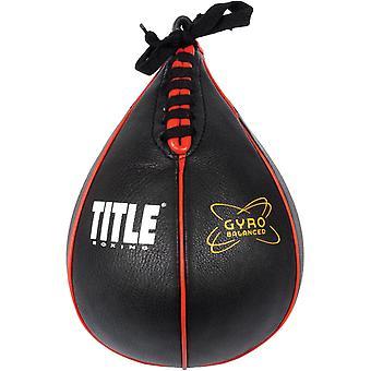 Title Boxing Gyro Balanced Leather Punch Training Speed Bag - Black