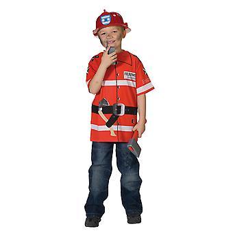 Departamento de bomberos camiseta embroma el traje del bombero t-shirt